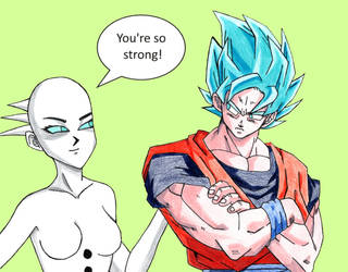 Goku and Lightness by GodRules311