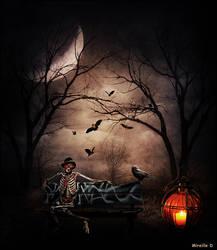 Banc Halloween Nocturne by MireilleD