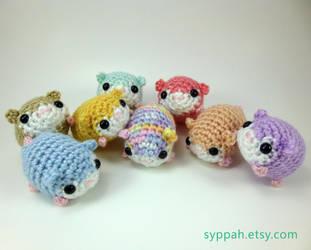 Pastel Hamsters by syppahscutecreations