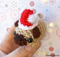 Santa Pug by syppahscutecreations