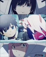 Darling in the FranXX - Zero Two and Hiro by Abdul-UchiMaki
