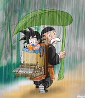Under Paozu rain by OmaruIndustries