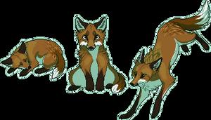 Pixel Fox - Red by chertan-koraki