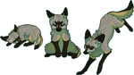 Pixel Fox - Bat-eared by chertan-koraki