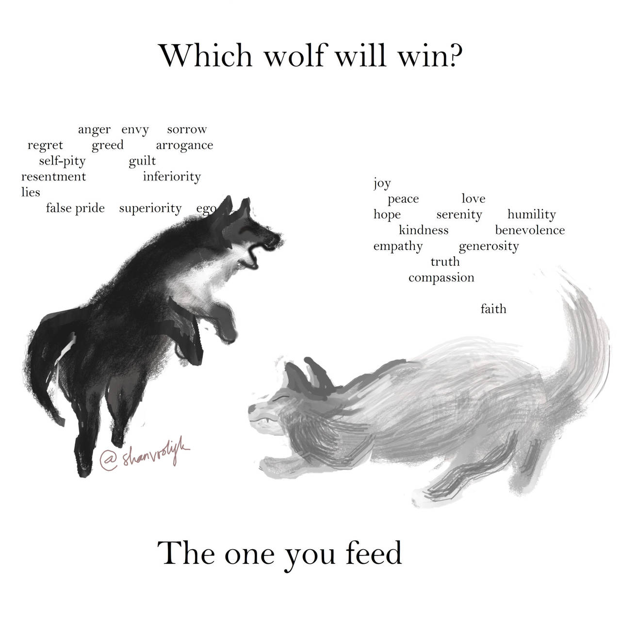 The One You Feed - Wolves by ShanVrolijk