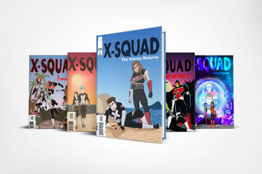 X-squad Comic book covers 2016-2018 by nicholasnrm123