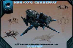 HNR-07G Cerberus Gunship by samurairyu