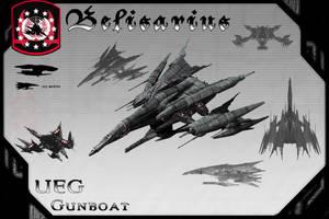 Belisarius Class Gunboat by samurairyu