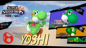 Super Smash Bros. Evolution: Yoshi by dragonnjmb