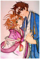 Tsubasa Love Sakura y Shaoran by Feinek