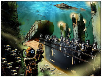 Underwater Steampunk Zombies! by JonGerung