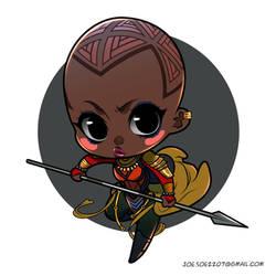 Black Panther Chibis -- Okoye by adipatijulian