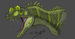 Ceratosaurus by T-Reqs