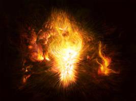 Fire Elemental by RuslanKadiev