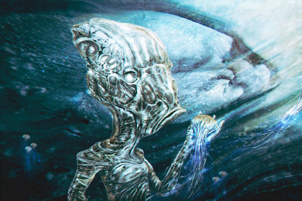 Jellyfish Hunter by RuslanKadiev