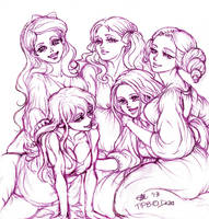 Sisterhood II_TPB 3years contest sketch by Eli-ArsNexus