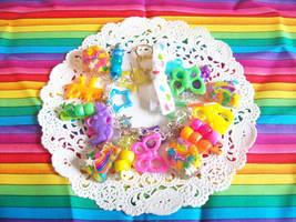 Rainbow Star Charm Bracelet by lessthan3chrissy