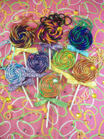 Lollipop Necklaces by lessthan3chrissy