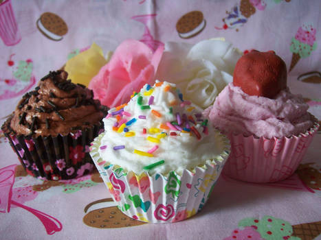Cupcake Soaps by lessthan3chrissy