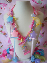Little Twin Stars Candy Necklace by lessthan3chrissy