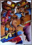 [YCH] A l'Auberge du Hasard by Blue42Fox