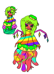 Cupcake child: Rainbow spatter cupcake [CLOSED] by Danielle-chan