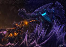 Jeager Vs Kaiju Inspiracion Medium by Magna-omega