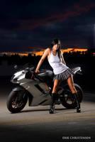 Biker babe by erikrulz