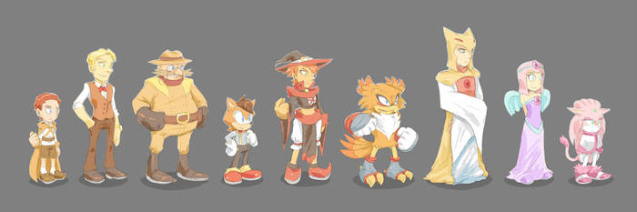 SONIC ORIGINS: 60 Years Ago [Cast Lineup] by Cylent-Nite