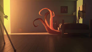Tentacles under the bed by MGandi