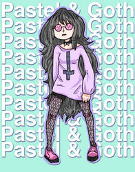 Pastel and Goth by evilkitten101