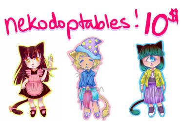 Nekodoptables by evilkitten101