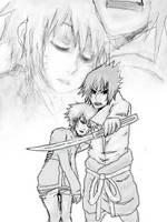 SasuNaru Protection doodle by pi-chi-keen