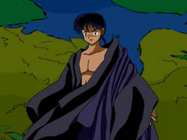 Miroku with torn robe - Ex by Arigatoumina