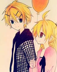 Rin Len by Khanito
