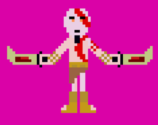 Kratos [God of War] Pixel by Flavictus by Flavictus