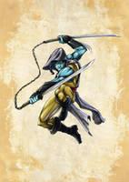 MedievaNinja character concept by akenator