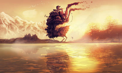 Howl's Moving Castle (ghibli studio) by AnatoFinnstark