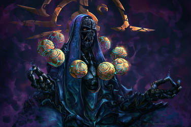 Zenyatta Dishonored ( overwatch ) by AnatoFinnstark