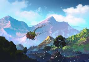 Howl's Moving Castle by AnatoFinnstark