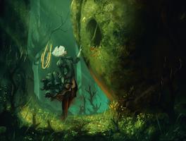 2B and the Iron Giant by AnatoFinnstark