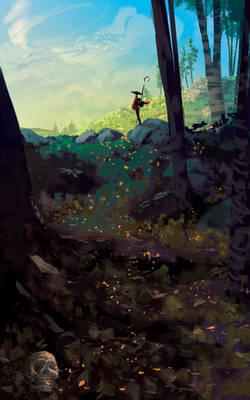 Something in the woods ( speedpaint 2 h )