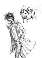 $5 Sketch - Amused. by soul-sama