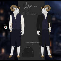 Victor the ram | Reference Sheet | 2018 by PlagueMaiden