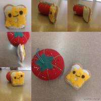 Felt Kawaii Toast with Cheese Craft! by gamerwhit