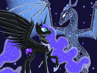 Just a Night Mare and her Selestial  by Rainpelt100