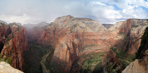 Rainbow over Angels Landing by phxch