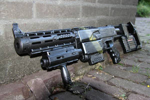 painted nerf gun by melliepivot