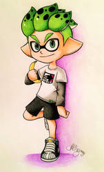 Viantastic's Inkling in the Corocoro manga style by AmyRosers