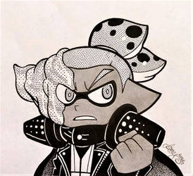 {Inktober} Agent 3.5 by AmyRosers